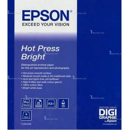 EPSON S042330 A3+ Hot Press Bright Paper 25 Sayfa