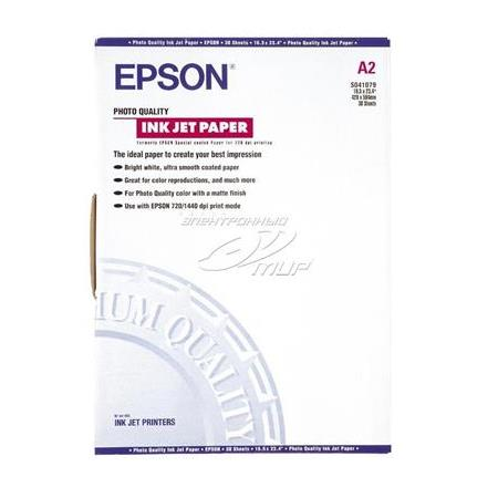 EPSON S041079 A2 Photo Quality Ink Jet Paper matte surface finishing 30 sayfa